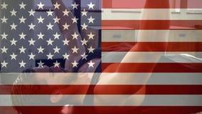 Entrenamiento de la bandera americana y de la aptitud almacen de video