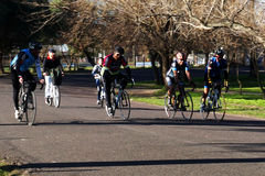 Entrenamiento de la bicicleta Foto de archivo libre de regalías