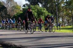 Entrenamiento de la bicicleta Fotos de archivo libres de regalías