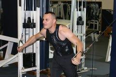 entrenamiento de la gimnasia de la aptitud Fotografía de archivo libre de regalías