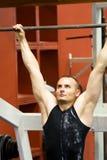 entrenamiento de la gimnasia de la aptitud Imagen de archivo libre de regalías