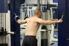 entrenamiento de la gimnasia de la aptitud Foto de archivo libre de regalías