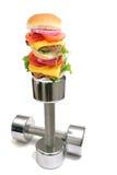 Entrenamiento de la hamburguesa foto de archivo