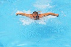 Entrenamiento de la nadada Fotografía de archivo