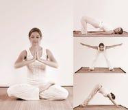 Entrenamiento de la yoga Imagenes de archivo