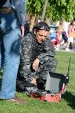 Entrenamiento de las fuerzas especiales de la policía Fotos de archivo libres de regalías