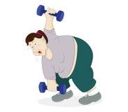 Entrenamiento de las pesas de gimnasia Imagen de archivo