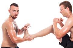 Entrenamiento de los artes marciales Fotografía de archivo libre de regalías