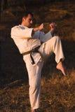 Entrenamiento de los artes marciales Fotografía de archivo