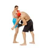 Entrenamiento de los combatientes de Kickbox Imagen de archivo libre de regalías
