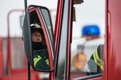 Entrenamiento de los servicios de rescate Fotos de archivo libres de regalías