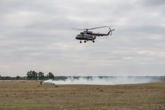 Entrenamiento de los servicios de rescate Foto de archivo