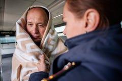 Entrenamiento de los servicios de rescate Fotos de archivo
