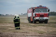 Entrenamiento de los servicios de rescate Fotografía de archivo