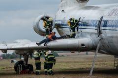Entrenamiento de los servicios de rescate Imagen de archivo