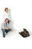 Entrenamiento del animal doméstico Imágenes de archivo libres de regalías