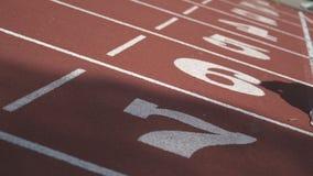 Entrenamiento del atleta en el campo de deportes almacen de video