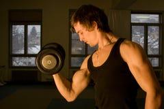 Entrenamiento del bodybuilder Foto de archivo