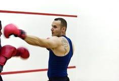 Entrenamiento del boxeador Fotografía de archivo libre de regalías