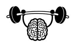 Entrenamiento del cerebro ilustración del vector