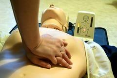 Entrenamiento del CPR imagenes de archivo