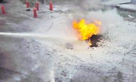 Entrenamiento del extintor foto de archivo