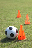 Entrenamiento del fútbol foto de archivo