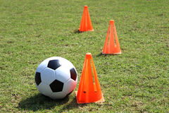 Entrenamiento del fútbol foto de archivo libre de regalías