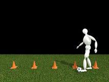 Entrenamiento del fútbol Imagen de archivo libre de regalías