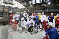 Entrenamiento del hockey sobre hielo Fotos de archivo libres de regalías