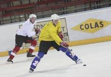 Entrenamiento del hockey sobre hielo Fotografía de archivo