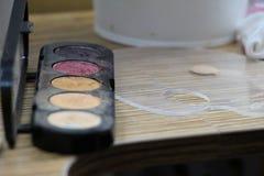 Entrenamiento del maquillaje Imágenes de archivo libres de regalías