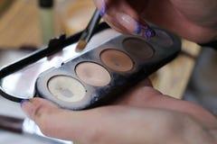 Entrenamiento del maquillaje Fotografía de archivo
