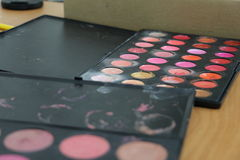 Entrenamiento del maquillaje Imagen de archivo libre de regalías