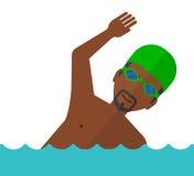 Entrenamiento del nadador en piscina Foto de archivo