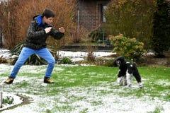 Entrenamiento del perro Imagen de archivo libre de regalías