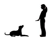 Entrenamiento del perro (obediencia) ilustración del vector