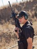 Entrenamiento del rifle Foto de archivo libre de regalías