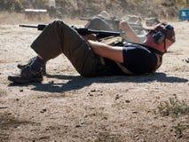Entrenamiento del rifle Imagenes de archivo