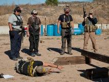 Entrenamiento del rifle Imágenes de archivo libres de regalías