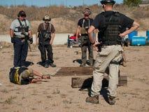 Entrenamiento del rifle Fotos de archivo
