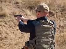 Entrenamiento del rifle Fotografía de archivo libre de regalías