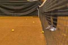 Entrenamiento del tenis Foto de archivo libre de regalías