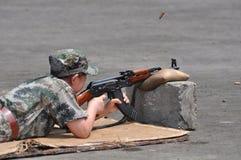 Entrenamiento del tiroteo Imagen de archivo libre de regalías