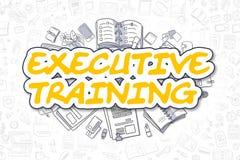 Entrenamiento ejecutivo - texto amarillo de la historieta Concepto del asunto ilustración del vector
