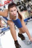 Entrenamiento en gimnasia Fotos de archivo libres de regalías