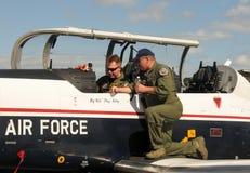 Entrenamiento experimental de la fuerza aérea Fotografía de archivo libre de regalías