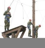 Entrenamiento físico militar imagen de archivo libre de regalías