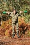 Entrenamiento físico militar Foto de archivo libre de regalías