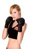 Entrenamiento femenino de MMA Imagen de archivo libre de regalías